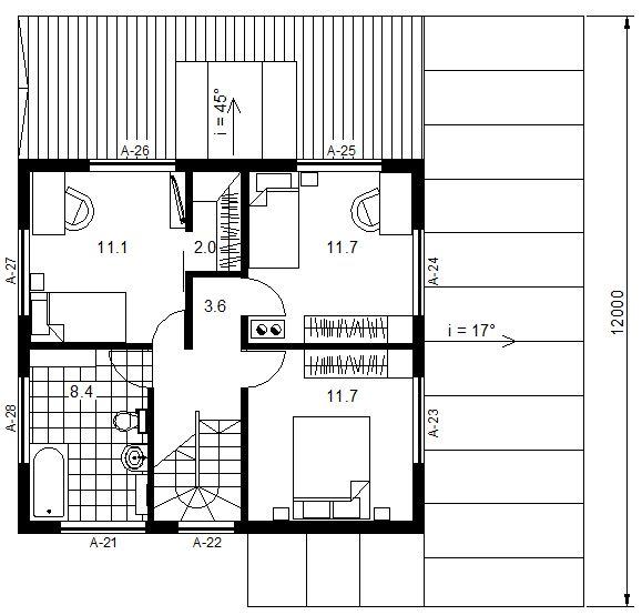 Modern 100, II korruse plaan.JPG